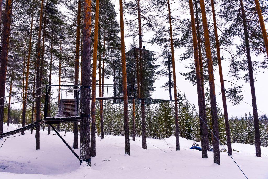 Laponia Psi zaprzeg wioska swietego mikolaja wyjazd do laponii rovaniemi_002215 Treehotel mirror cube